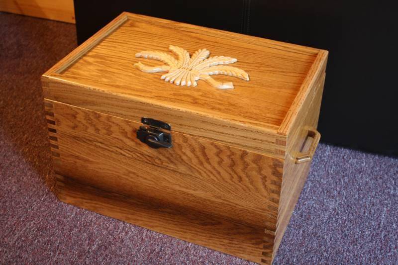 Oak storage box & Storage boxes